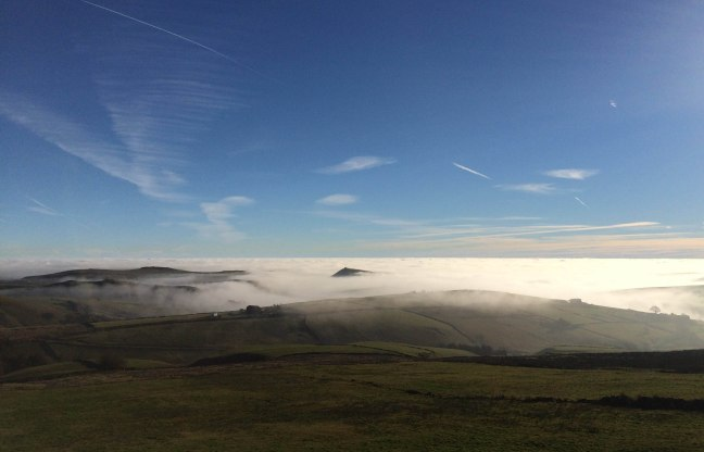 Chrome Hill near Buxton on a misty morning