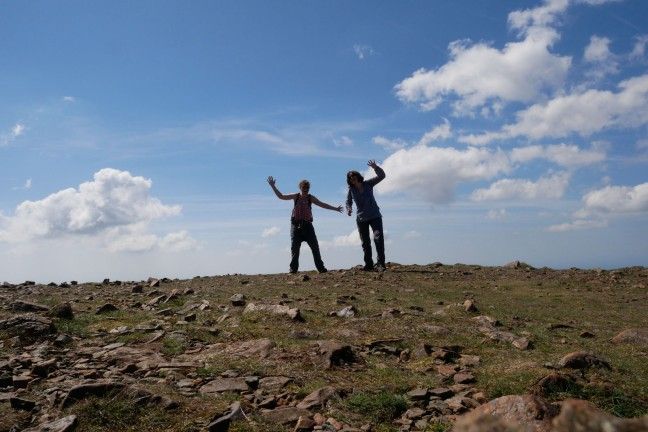 Fun on top of High Stile, the Lake District, England