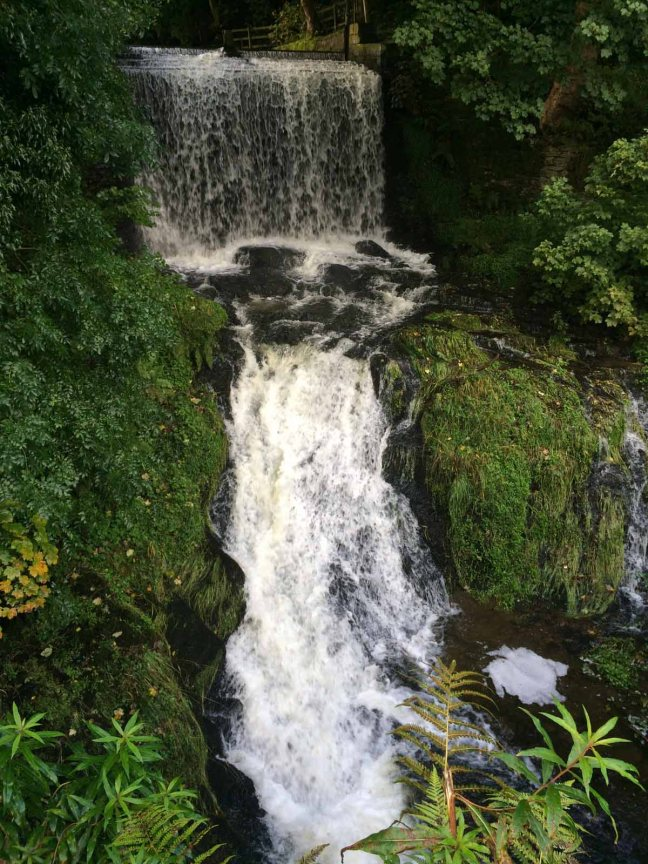 Waterfall at Walkmill farm, Ingersley Vale, near Bollington, Cheshire