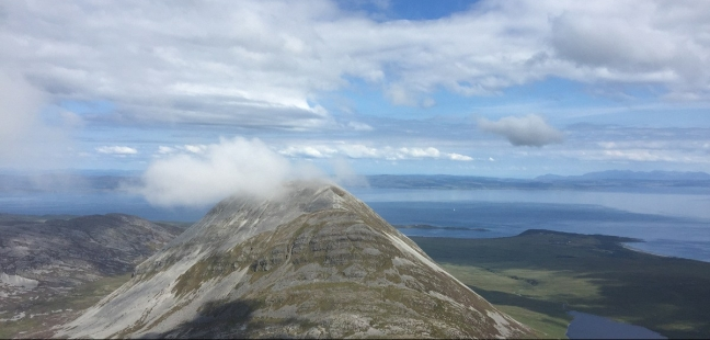 Beinn Shianntaidh from Beinn an Oir - two of the Three Paps of Jura, Isle of Jura, Scotland